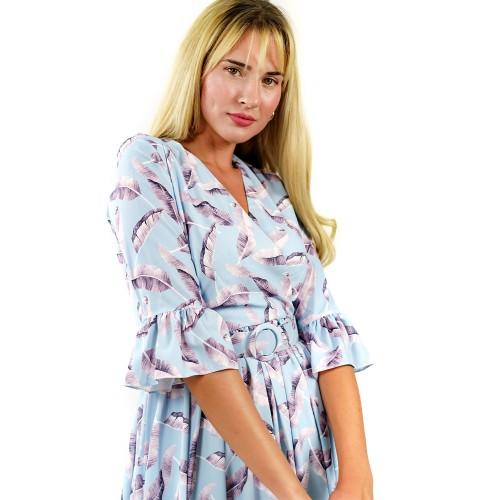 Midi Γαλάζιο Φόρεμα